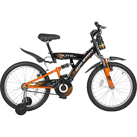 Hero Sprint 20T Elite Single Speed Junior Cycle, 15 inch Frame  Black/Orange  Mountain Bikes
