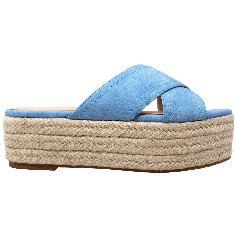 e9b56370cdd Amazon.com  SOBEYO Womens Platform Sandals Wedge Flatform Slides Criss  Cross Strap Espadrilles  Shoes