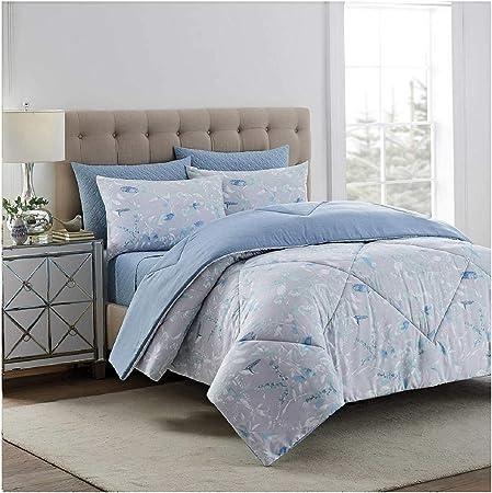 Amazon Com Style Decor 6 Piece Comforter Set Queen Eunice Light