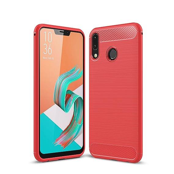 best website 13dbe d5f74 Asus ZenFone 5 Case, AVIDET Shock-Absorption Flexible Soft Gel TPU Silicone  Case Cover for Asus Zenfone 5z ZS620KL/ZenFone 5 ZE620KL (Red)