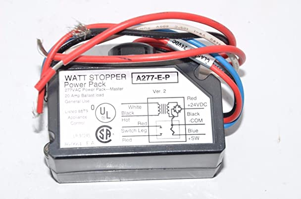 71AjrqQ3e5L._SX608_ amazon com the wattstopper a277 e p power pack 277v 20a ballast watt stopper multi power pack wiring diagram at readyjetset.co
