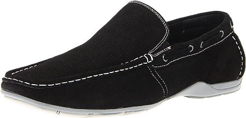Steve Madden Labelled - Mocasines de Cuero para Hombre Negro Negro 40: Amazon.es: Zapatos y complementos