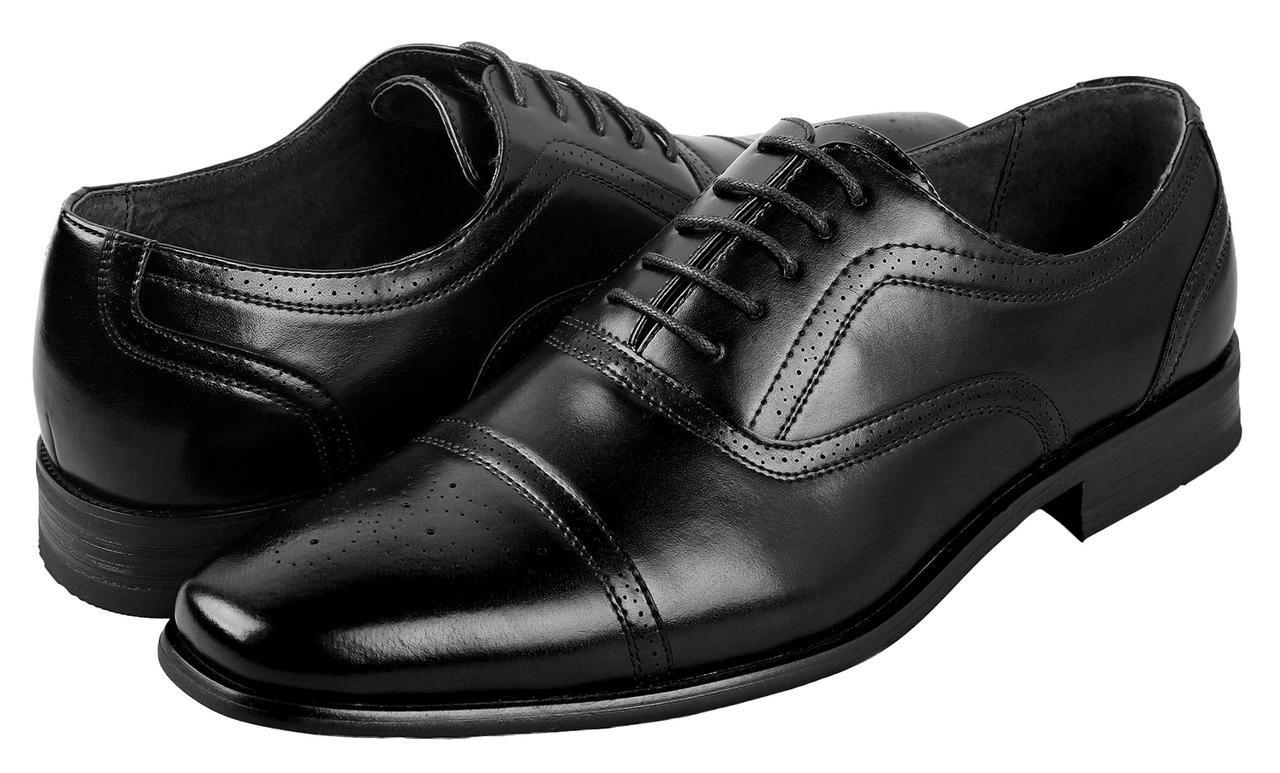 Delli Aldo Mens Wing Tip Dress Shoes   Comfortable Dress Shoes I Formal   Lace-Up   Classic Design   Black 10.5 by Delli Aldo (Image #5)