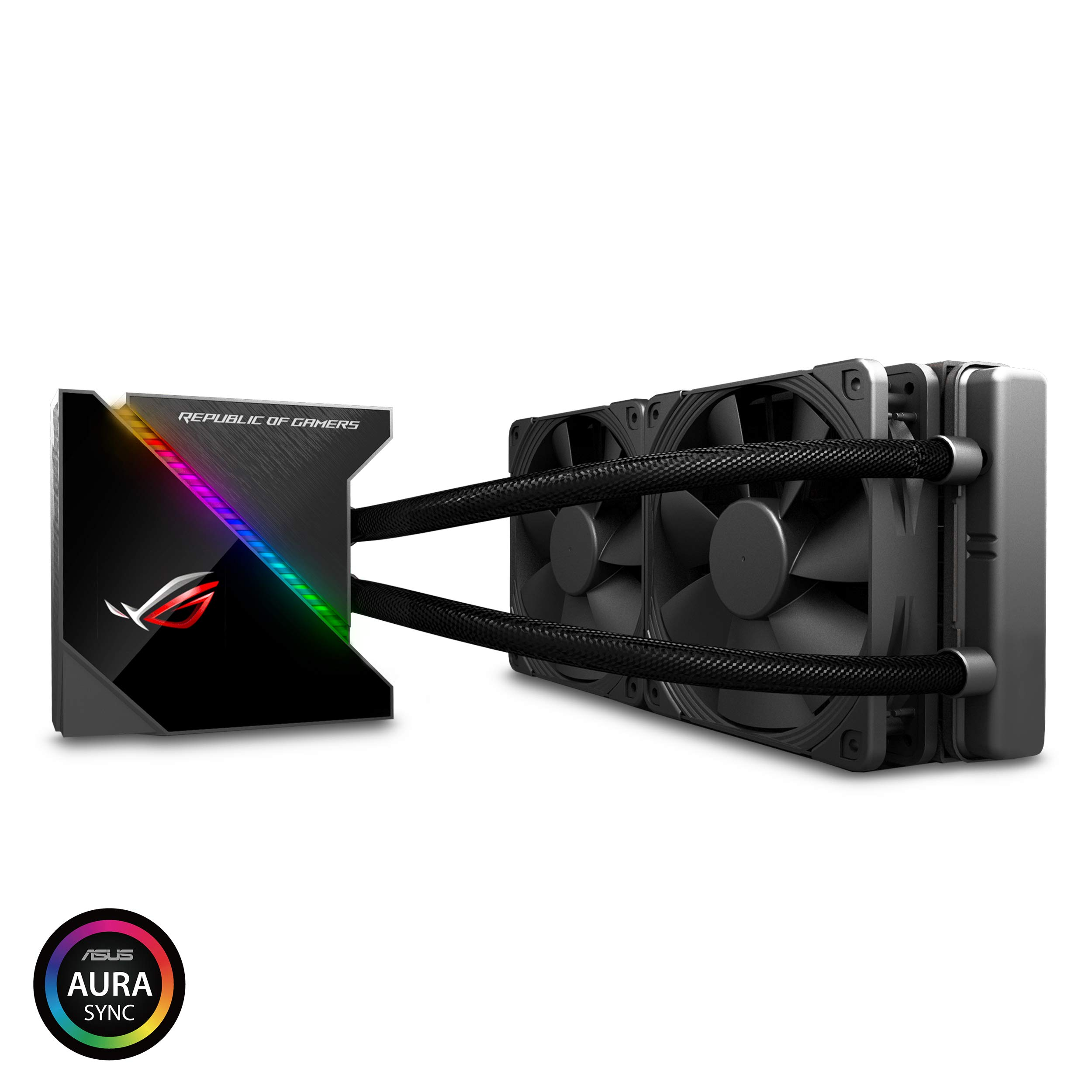 ASUS ROG Ryujin 240 RGB AIO Liquid CPU Cooler 240mm Radiator (Dual 120mm 4-pin Noctua iPPC PWM Fans) with LIVEDASH OLED Panel and FanXpert Controls by Asus (Image #1)
