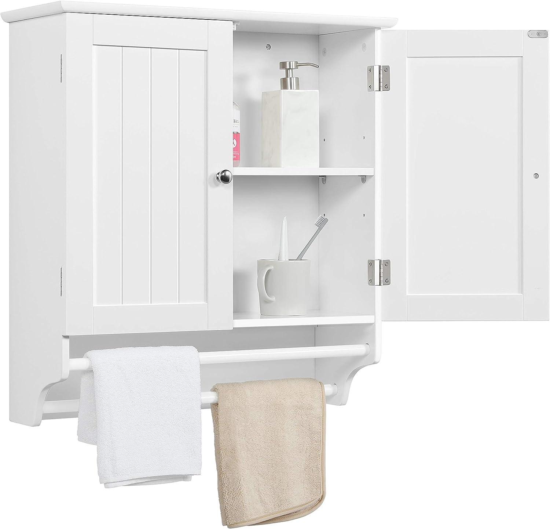Amazon Com Go2buy White Wall Mounted Cabinet Kitchen Bathroom Wooden Medicine Hanging Storage Organizer Furniture Decor
