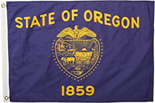 product image for Annin Flagmakers Model 144450 Oregon Flag Nylon SolarGuard NYL-Glo, 2x3 ft, 100% Made in USA to Official State Design Specifications