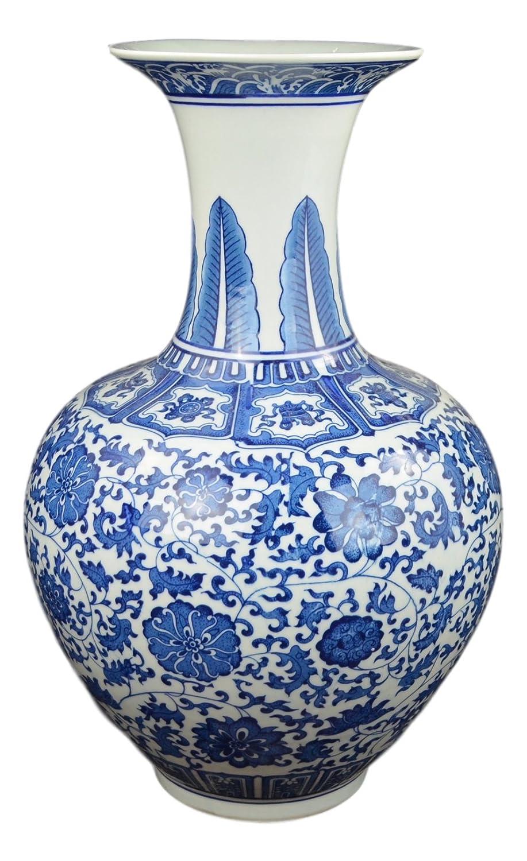 clásico floral, color azul y blanco Jarrón de porcelana, China Jarrón, jarrón decorativo, jarrón de recompensa