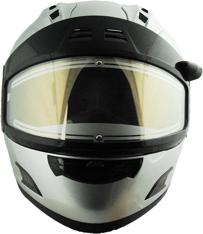 Vega Altura Electric Snowmobile Full Face Helmet Silver, Large