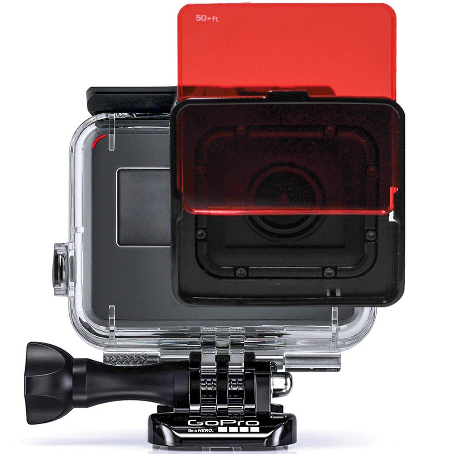 SANDMARC Aqua Dive Filter for GoPro Hero 7, Hero 6 & Hero 5 Super Suit (Dive Housing) - Red, Magenta and Yellow Filter Pack - Diving, Scuba and Snorkeling Accessories