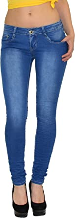 By Tex S300 Pantalones Vaqueros Rotos Para Mujer Cintura Baja En Diseno Moderno Typ Z70 40 Amazon Es Ropa Y Accesorios