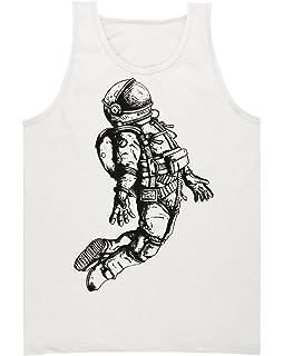 ELINELIN Space Guy Floating in A Space Sketch Custom Mens Tank Top Shirt