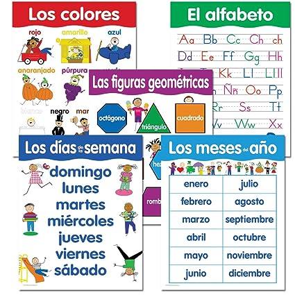 Amazon.com : Creative Teaching Press Spanish Basic Skills, 5-Chart ...