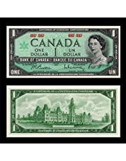 1967 BANK OF CANADA $1 DOLLAR NOTE ***UNCIRCULATED*** NO SERIAL NUMBER - AUTHENTIC BANKNOTE ISSUE - AMAZING CHRISTMAS GIFT IDEA THAT INCREASES IN VALUE OVER TIME!