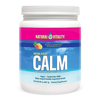 Natural Vitality Calm Anti-Stress Suplemento en polvo, limón ...