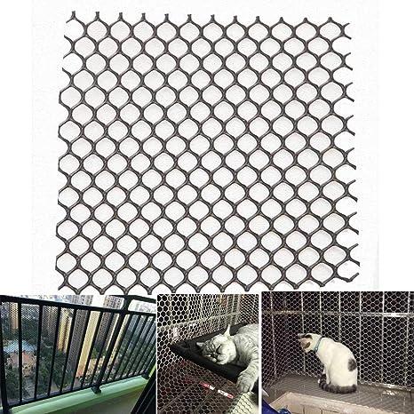 Balcón Red De Seguridad Multi-Uso Protección Gato Negro Duradero ...