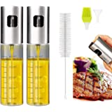 Eletorot Oil Sprayer Dispenser,Vinegar Sprayer,Dressing Spray with Brush Portable,Grilling Olive Oil Glass Bottle 100ml,Premi