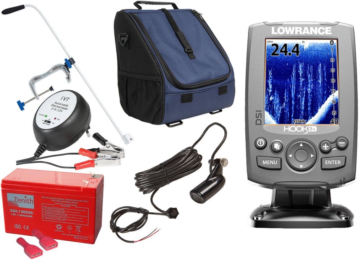 Lowrance yogistar Qware Echolot - juego de 3 x portable XXL-1: Amazon.es: Electrónica