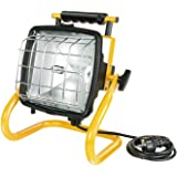 Brennenstuhl Halogenstrahler Brobusta/Flutlicht ideal als mobiler Baustrahler (Außenstrahler IP54 geprüft, 5m Kabellänge, 400 Watt) Farbe: gelb