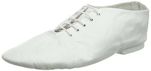 Starlite - Zapatillas de danza de cuero para mujer, color blanco, talla 2.5 UK