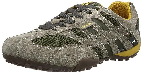 Geox UOMO Snake K, Zapatillas de Estar por casa para Hombre, Beige (Taupe/DK Green C6493), 40 EU: Amazon.es: Zapatos y complementos