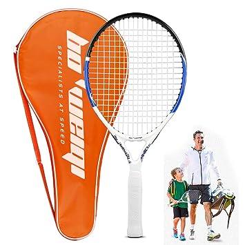 b6400a21e Calmare Raqueta de Tenis, Raqueta de Tenis de Aluminio Incluyendo Bolsa de  Tenis-Raquetas de Tenis para niños, Hombres y Mujeres (55cm): Amazon.es:  Deportes ...