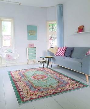 Amazon.de: Rozenkelim Teppich | im angesagten Shabby Chic Look | für ...
