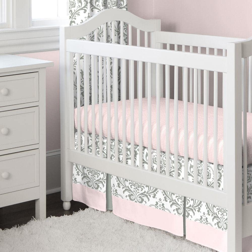 Carousel Designs Pink and Gray Traditions 2-Piece Crib Bedding Set by Carousel Designs