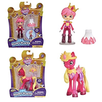 HAPPY PLACES Shopkins Royal Trends Prince Rowen Ruby and Royal Ruby Horse Bundle: Toys & Games
