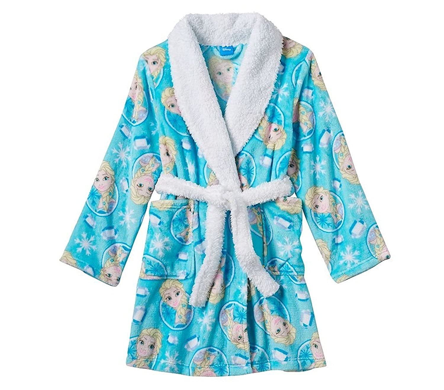 Disney Frozen Bathrobe Sherpa Collar Image 1