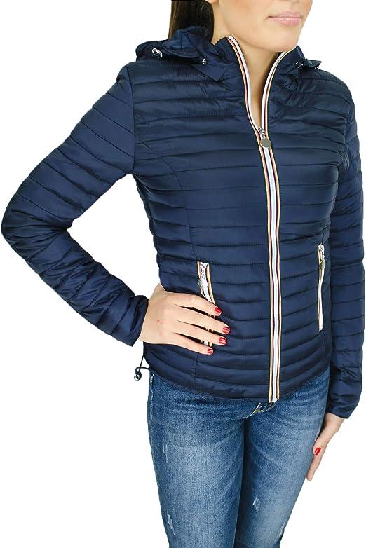 piumino 100 grammi donna blu giacca