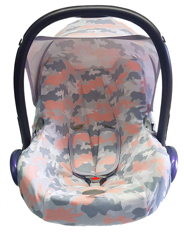 Sweet Baby - Juego completo de fundas para asiento de bebé Maxi-Cosi Cabrio, Pebble y otros Camou Pastell Talla:3er Komplettset