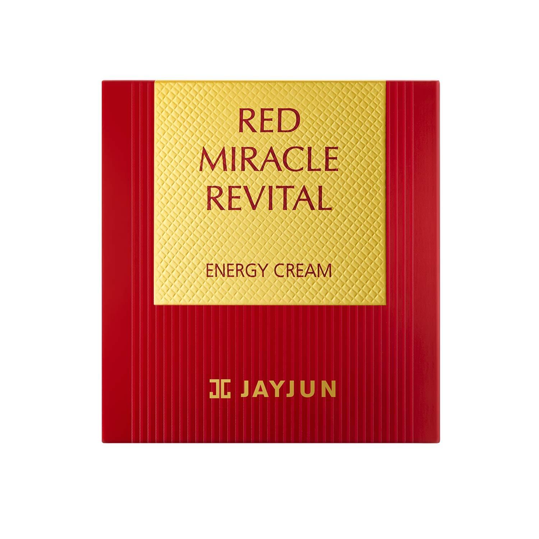 JAYJUN Red Miracle Revital Energy Cream, 50ml, 6.76 fl. oz, Ruby Powder,Antiaging, Firming, Silky Smooth, Hydrating