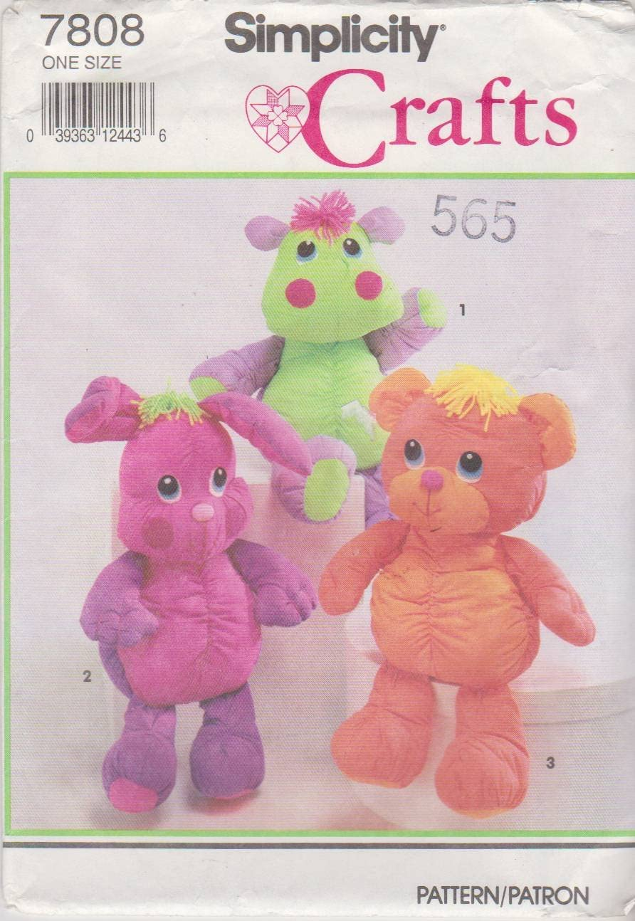Simplicity 2613 Cute Stuffed Animal Sewing Pattern for Children and Toddlers by Elaine Heigl Designs One Size