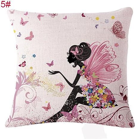 New Romantic Hada de flores impreso algodón y lino mezcla de ...