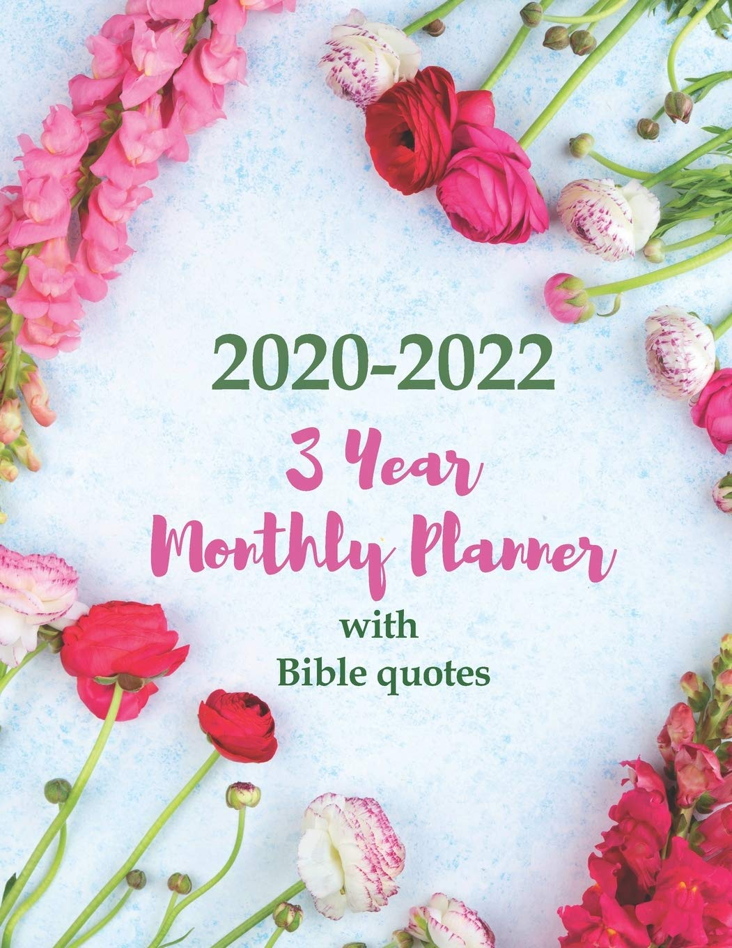 Christian Calendar 2022.Buy 2020 2022 3 Year Monthly Planner With Bible Quotes Large Calendar Organizer For Christian Women 36 Months Agenda One Bible Verse Per Page Diary Letter Sized 8 5 X 11 Inch 21 59 X