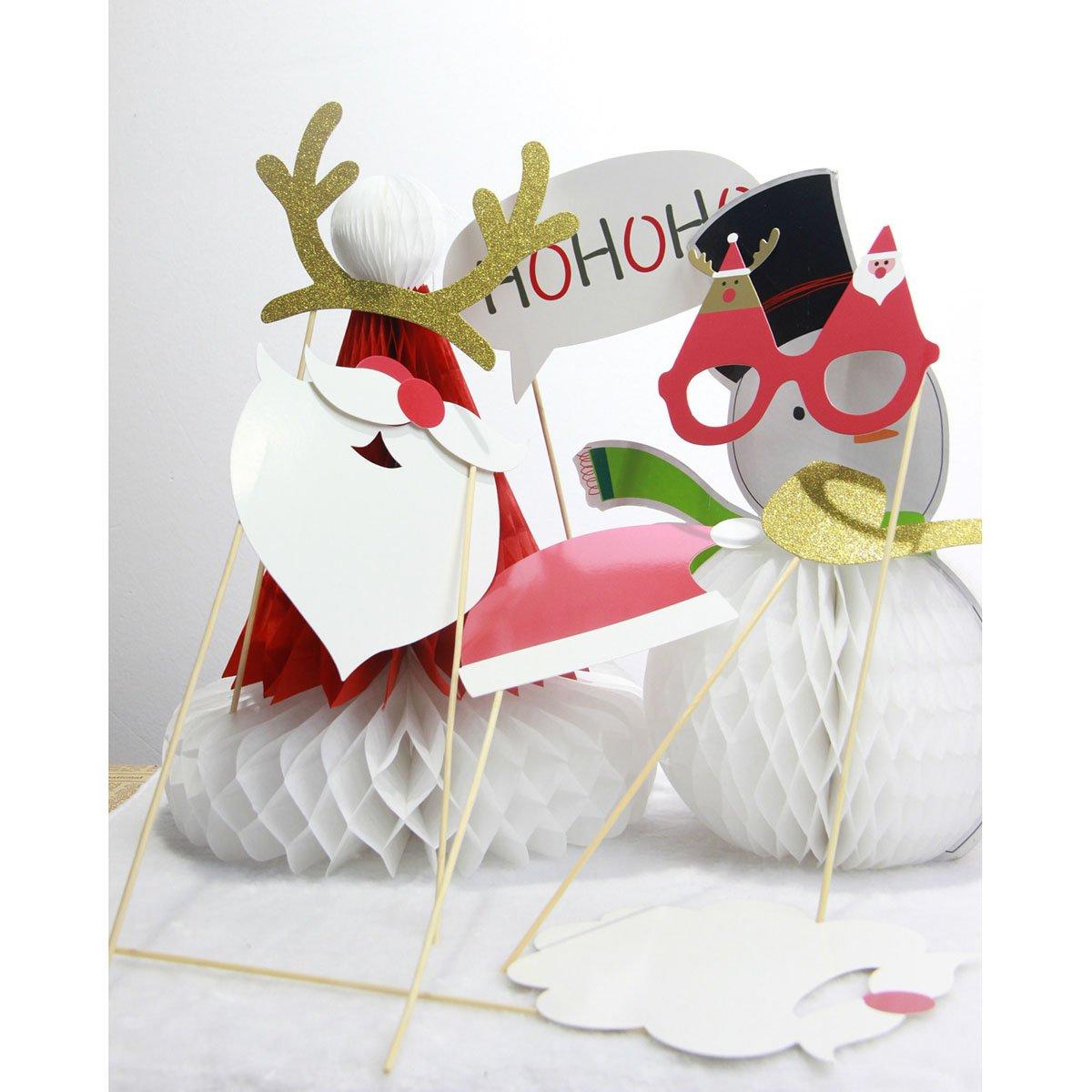 Pixnor Christmas Photobooth Requisiten 8Pieces DIY Kit Funny Photobooth