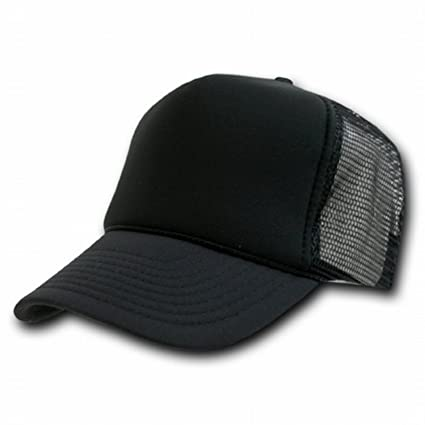 Amazon.com  BLACK MESH TRUCKER STYLE CAP HAT CAPS HATS ADJUSTABLE   Everything Else c7d644c86a8