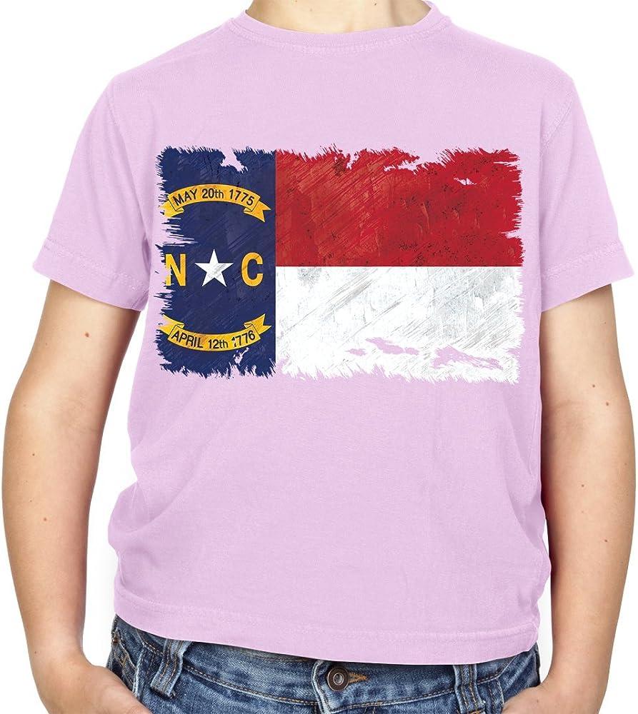 Carolina del Norte Grunge Estilo Bandera – Camiseta para niños – rosa claro – L 9 – 11 Años: Amazon.es: Ropa y accesorios