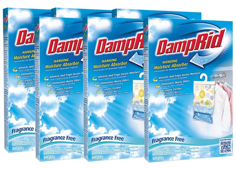 Hanging Moisture Absorber | DampRid Fragrance Free (Pack of 6) by DampRid