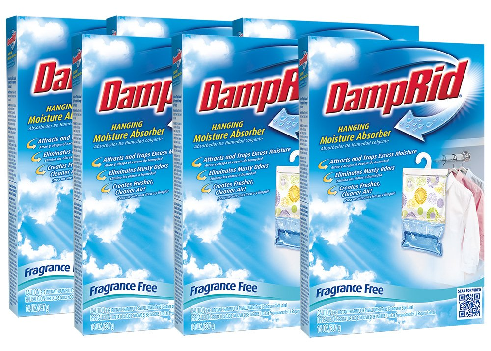 Hanging Moisture Absorber | DampRid Fragrance Free (Pack of 6) by DampRid (Image #1)