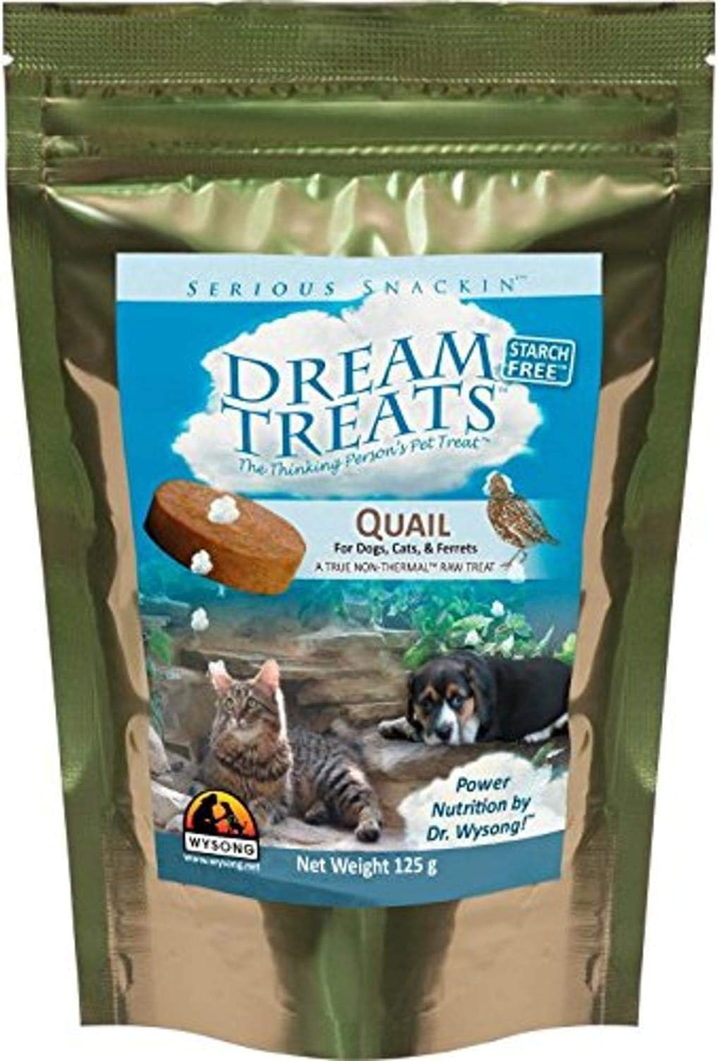 Wysong Dream Treats For Dogs/Cats/Ferrets - Raw Food - 4.9 Ounce Bag