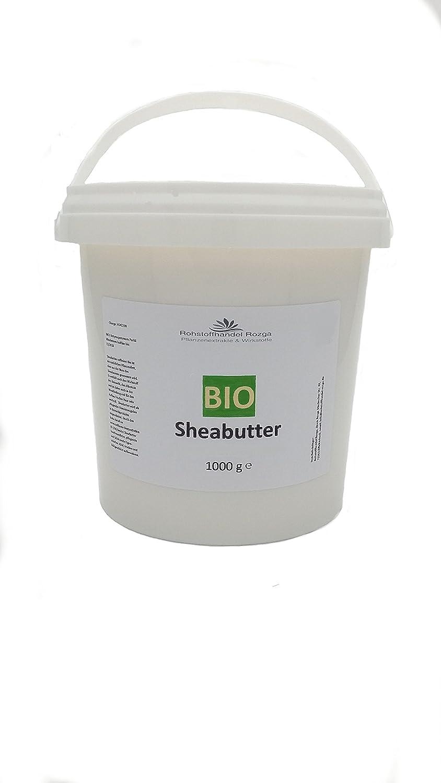 (11,90/kg) Sheabutter Bio 1000 g 100% rein Karitebutter Rohstoffhandel Rozga