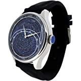 WatchDesign Astro II Constellation Watch - Astronomy/Astronomical Night Sky View with The Rotating Planisphere Disc