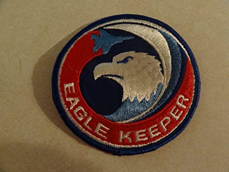 Amazon com: US Military Patch AIR Force Eagle Keeper 4 INCHES Round