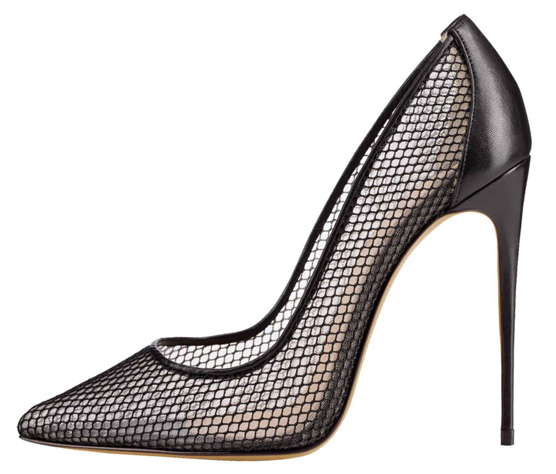 FYM Chaussures Zapatillas de squash y bádminton de Material Sintético para mujer 40 EU|Black Hollow