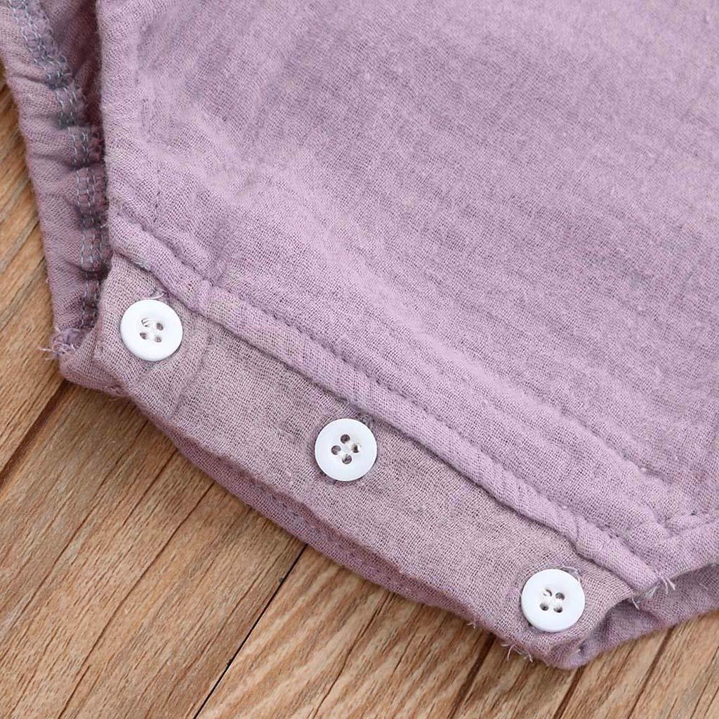 BeautyTop Baby Kinder Spielanzug Schulterfrei Strampler Baby M/ädchen Kleinkind Kurzarm Overall Baby Toddler Strampelanzug Kinderkleidung Outfits
