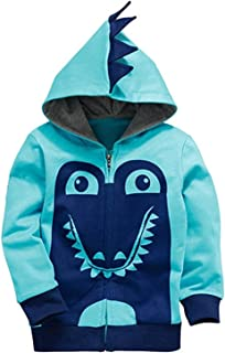 Garsumiss Little Boys Cute Animal Dinosaur Hoodie Sport Long Sleeve Cartoon Hooded