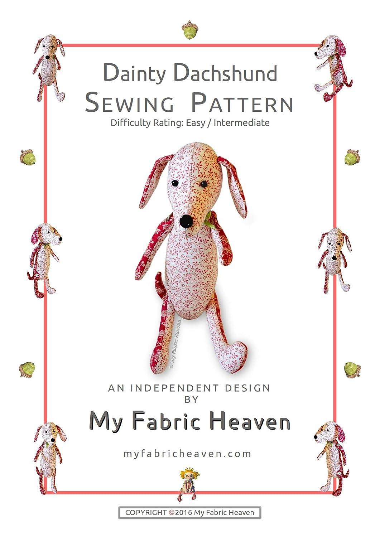 Patrón para costura de peluche, diseño independiente, tela de perro ...