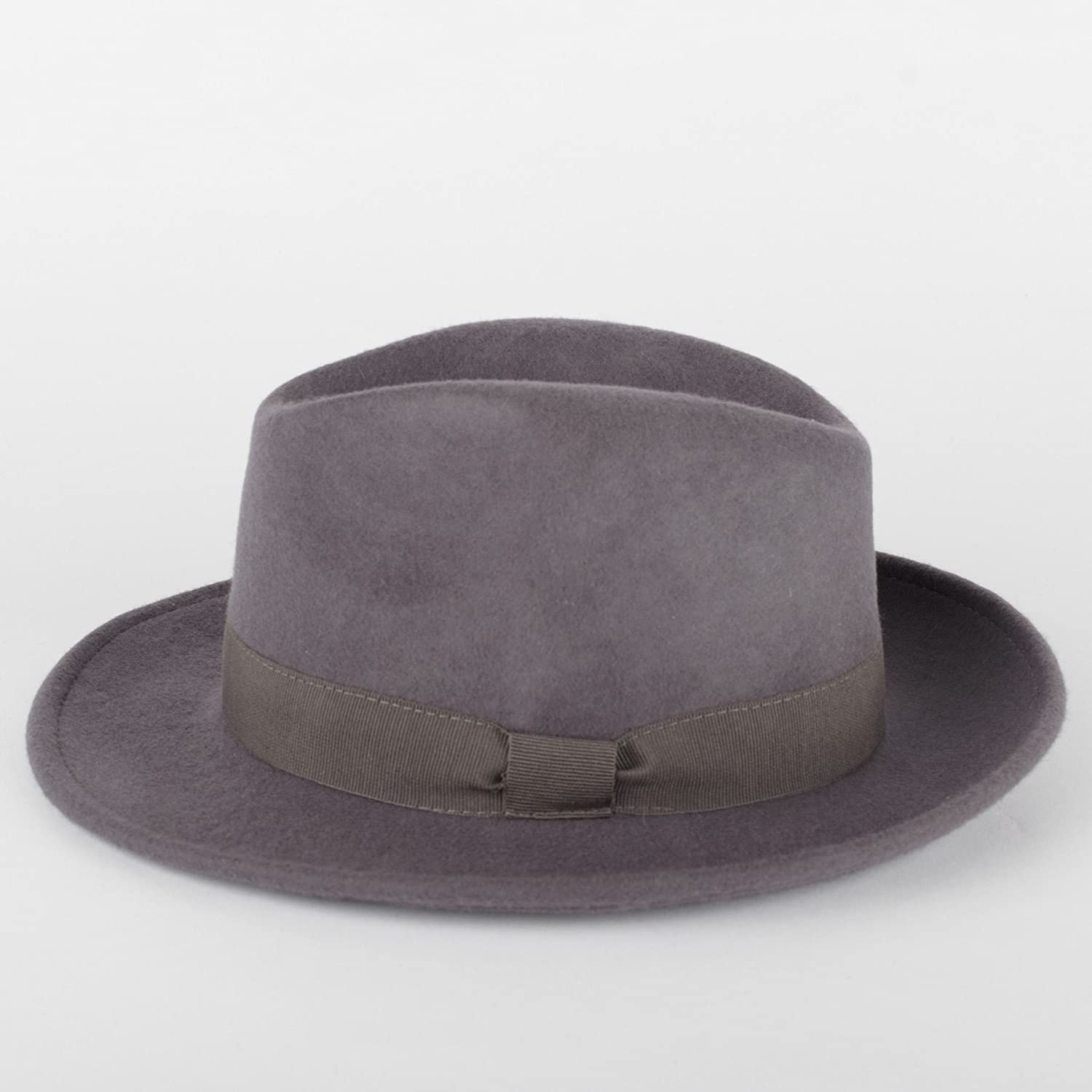 Wool Trilby Fedora Hat Handmade in Italy