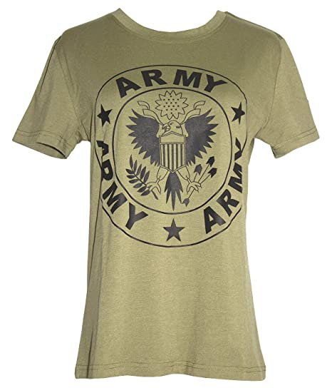 Darceil Women s Short Sleeve Army Green T Shirt With Eagle Print at ... 03b23d6583